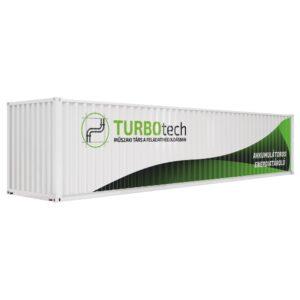 Akkumulátoros energiatároló konténer