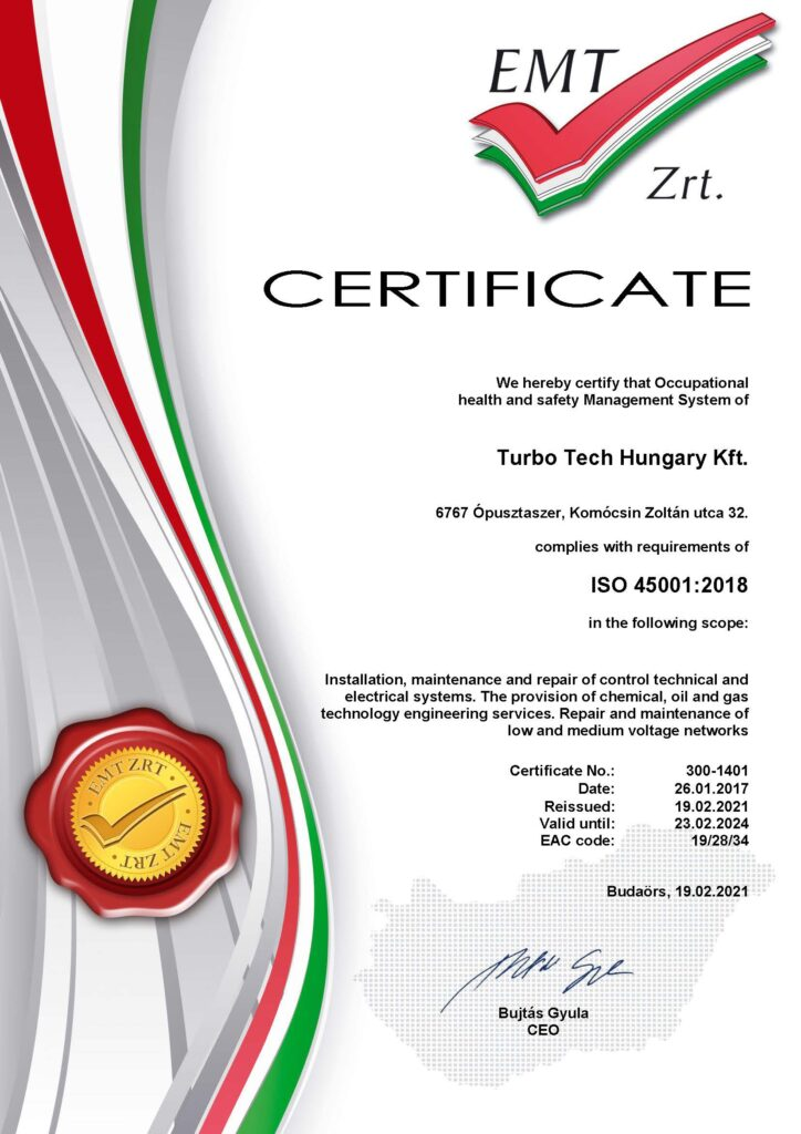 MSZ ISO 45001:2018