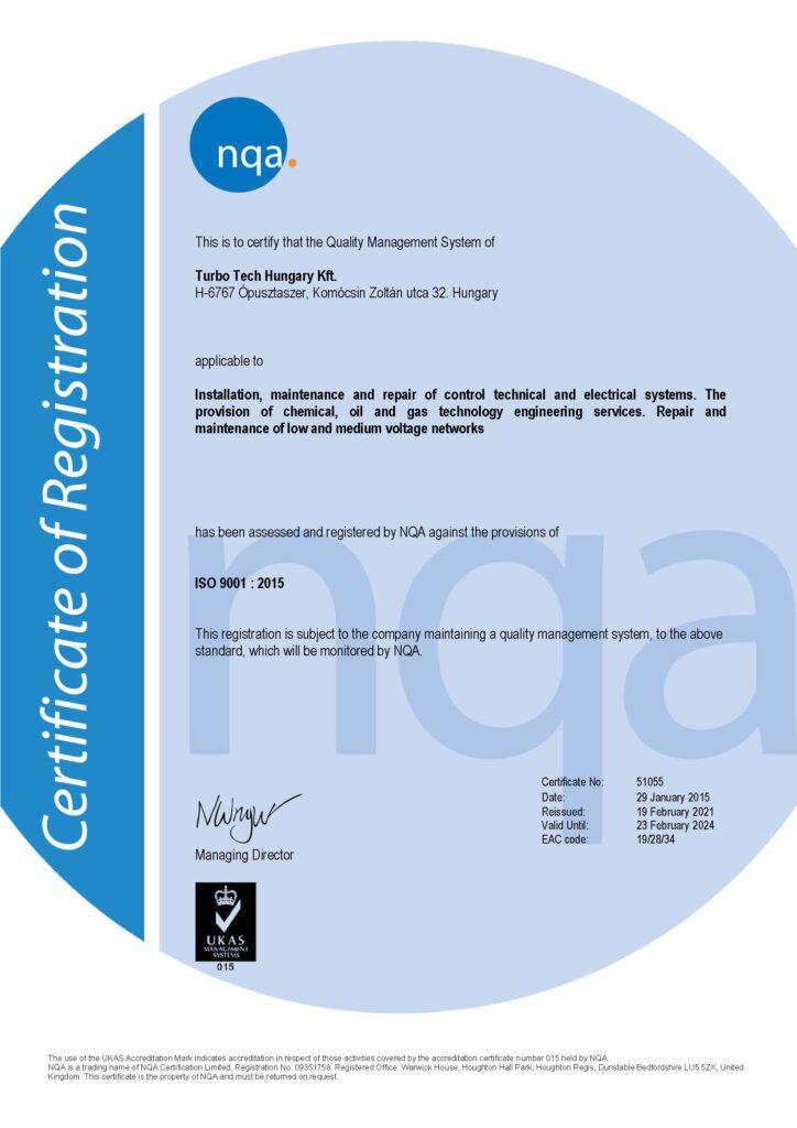 MSZ EN ISO 9001 : 2015